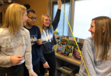8th graders explore careers in Physical Therapy.