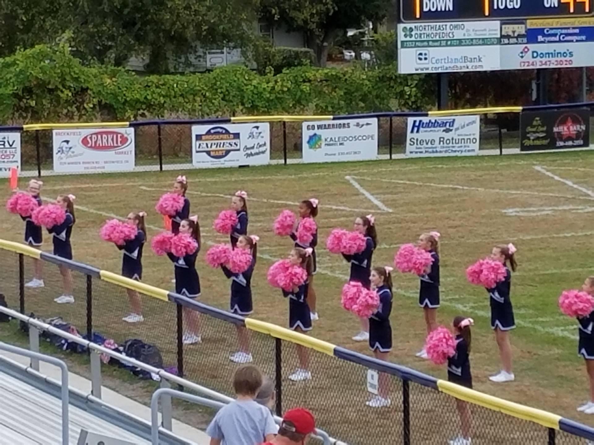 2017 middle school cheerleaders