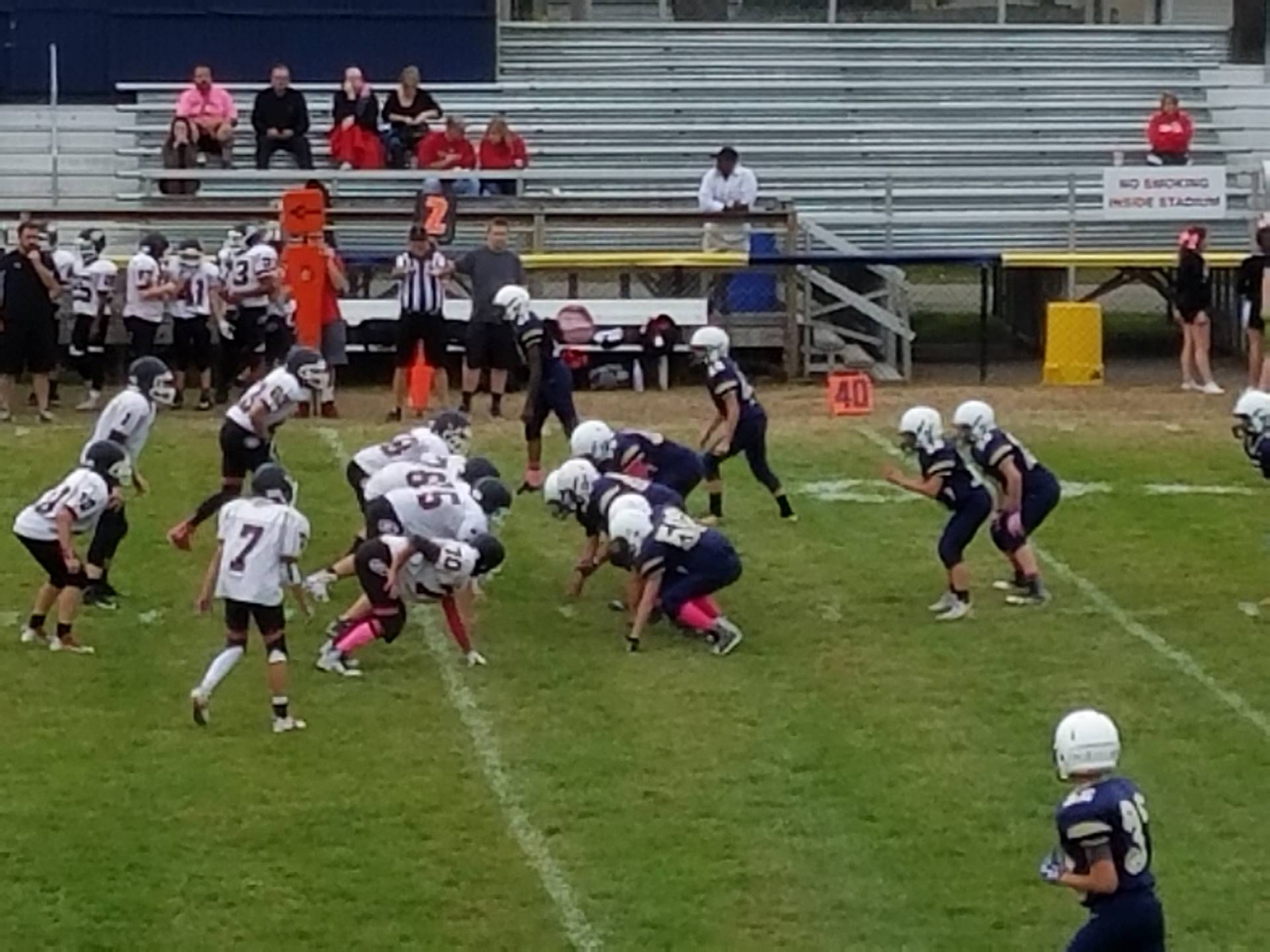 middle school football versus girard
