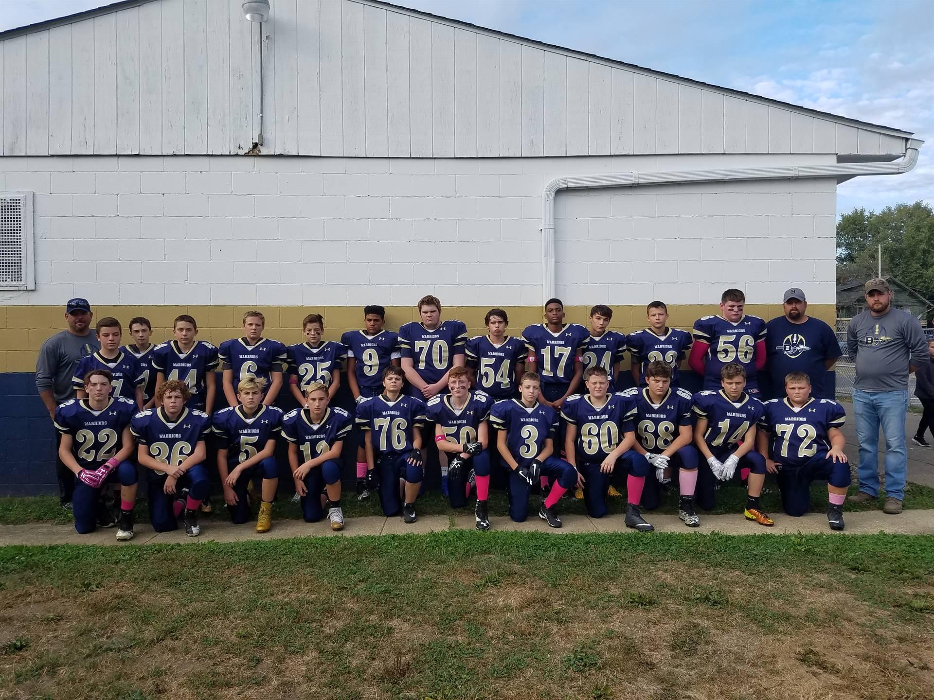 2017 middle school football team