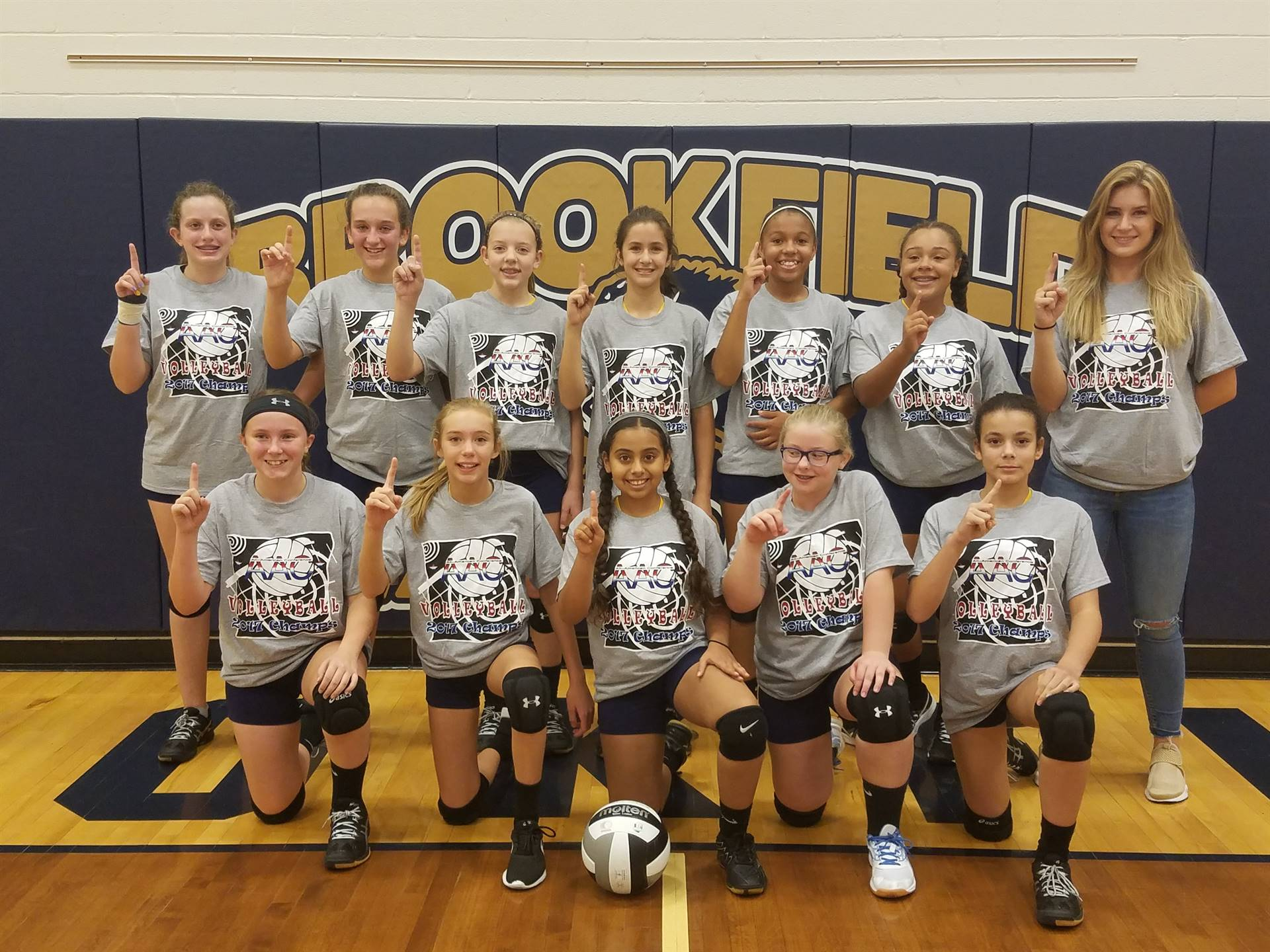 BMS 7th Grade Volleyball Team - AAC Blue Champs