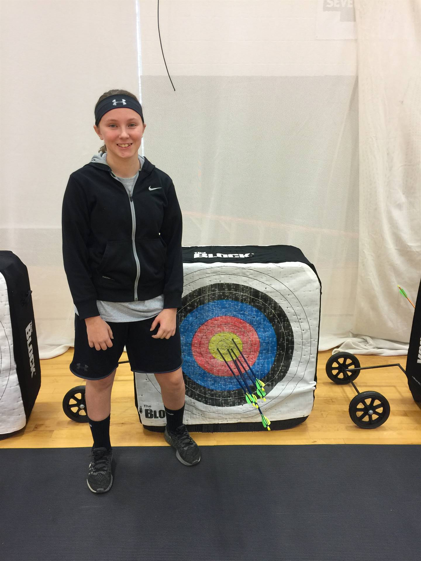 Mr. Joseph's Archery Class:  Katie Gibson 5 out of 5