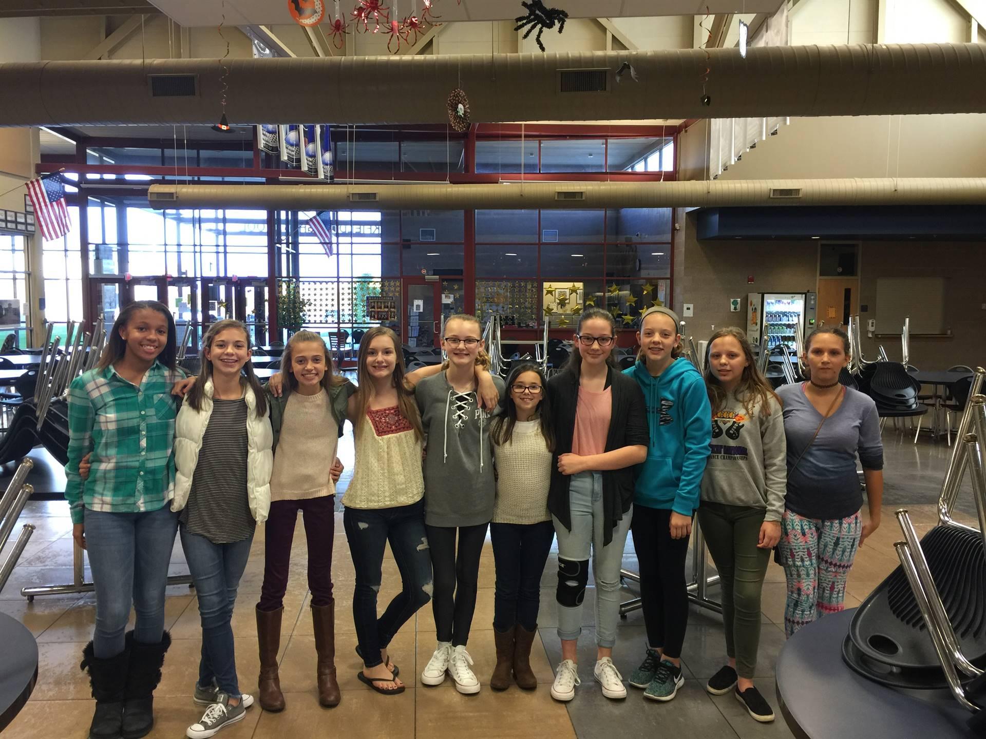 seventh grade cheerleaders