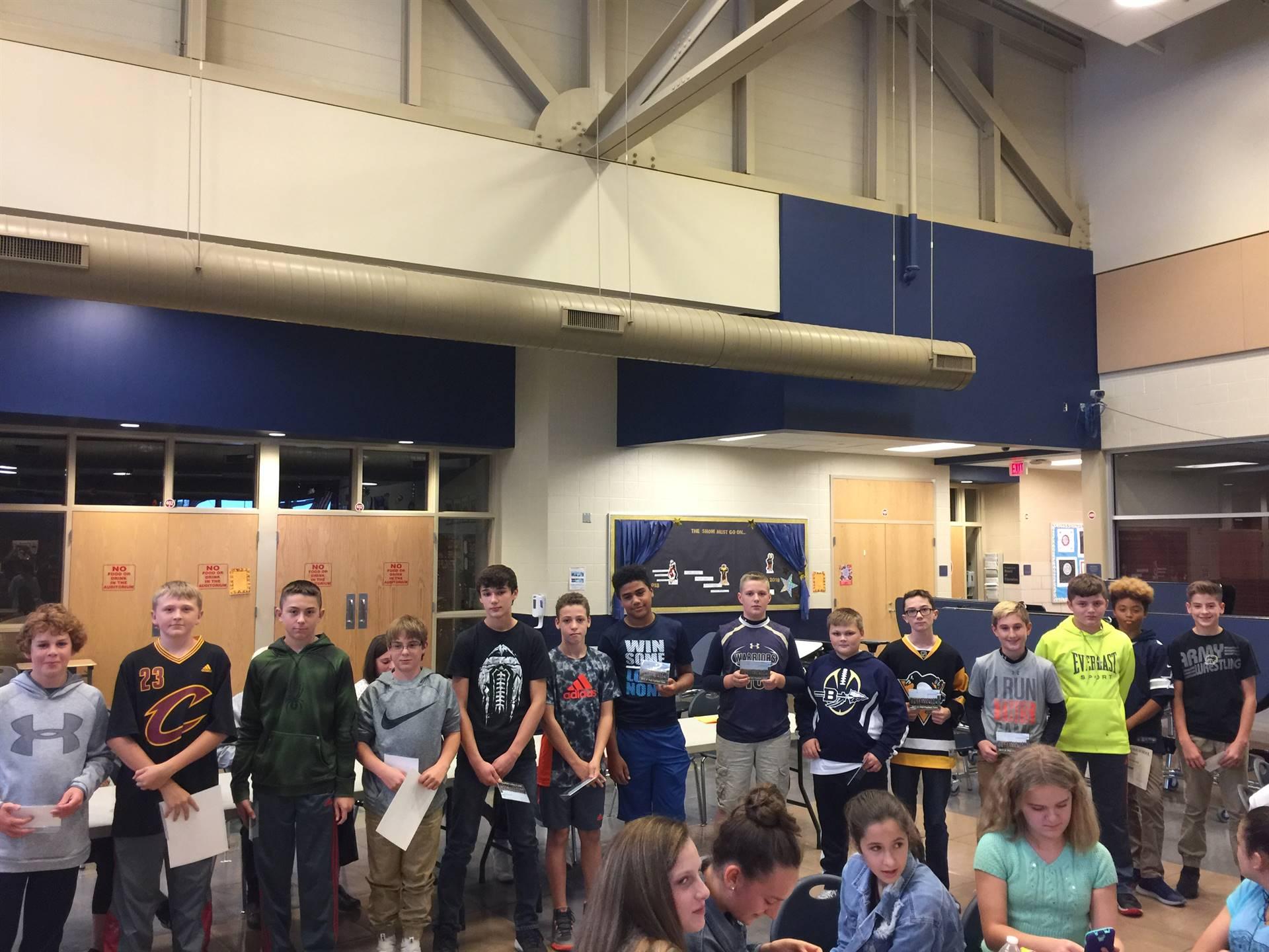 seventh grade football players
