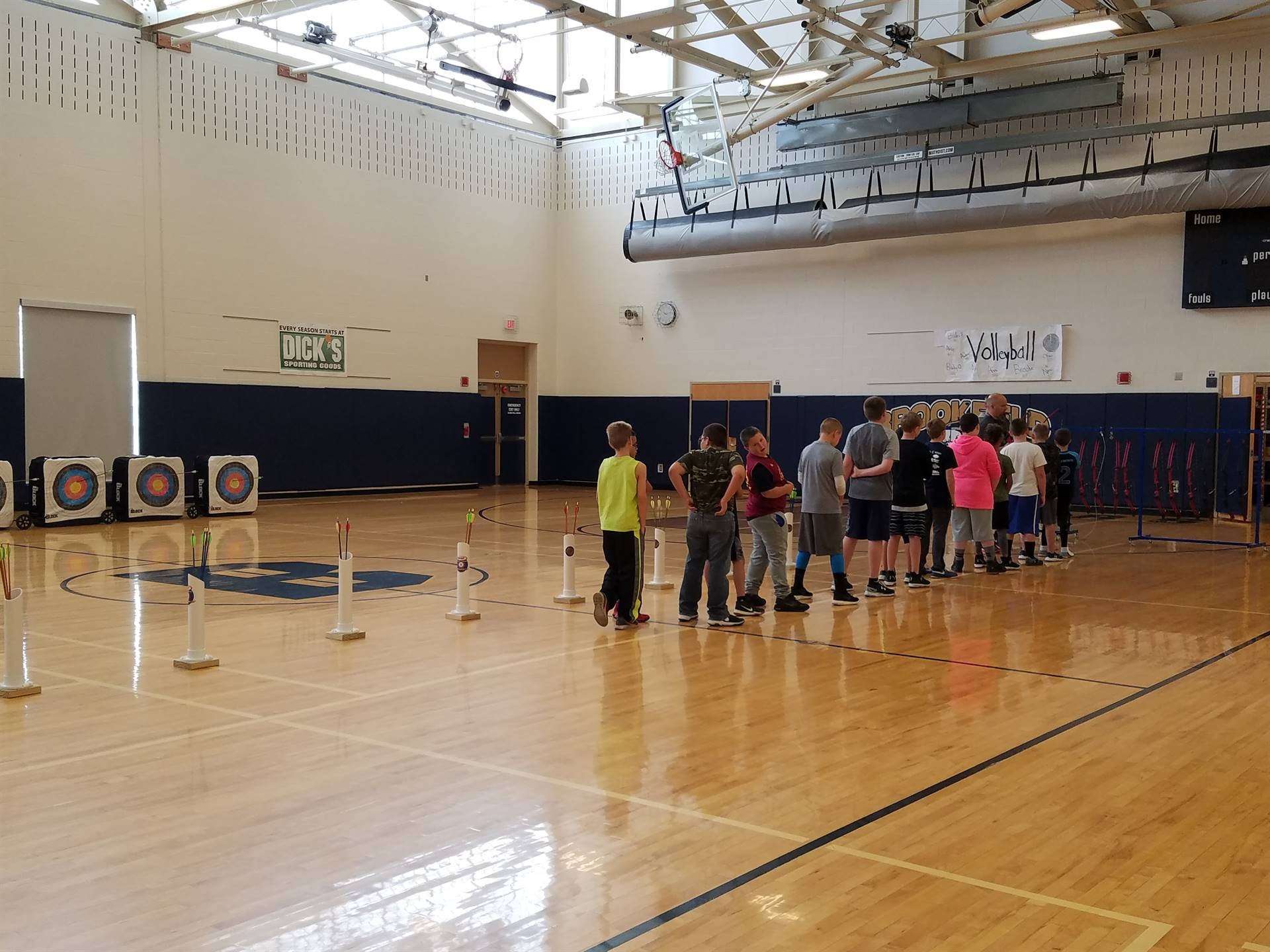2nd Day of Archery in Mr. Joseph's 5th grade gym class.... selecting draw weight.