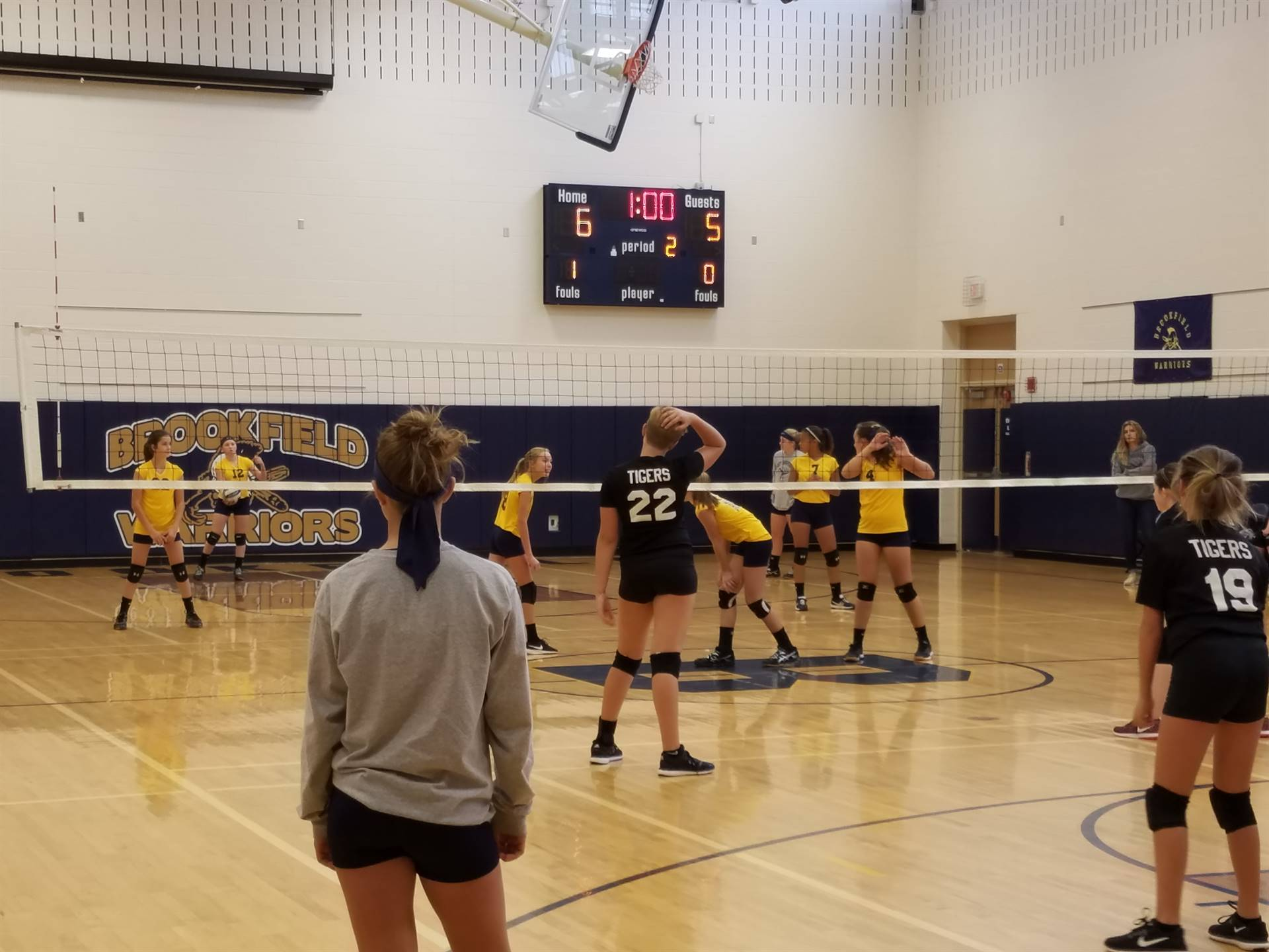 BMS 7th grade volleyball's victory over Newton Falls
