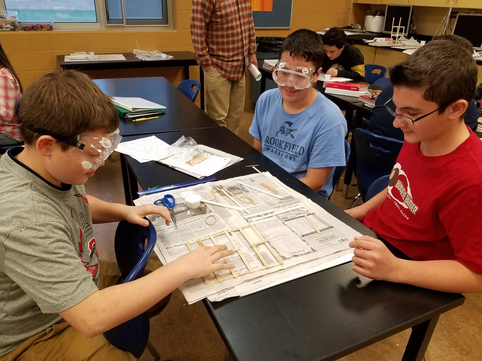 eighth grade science class