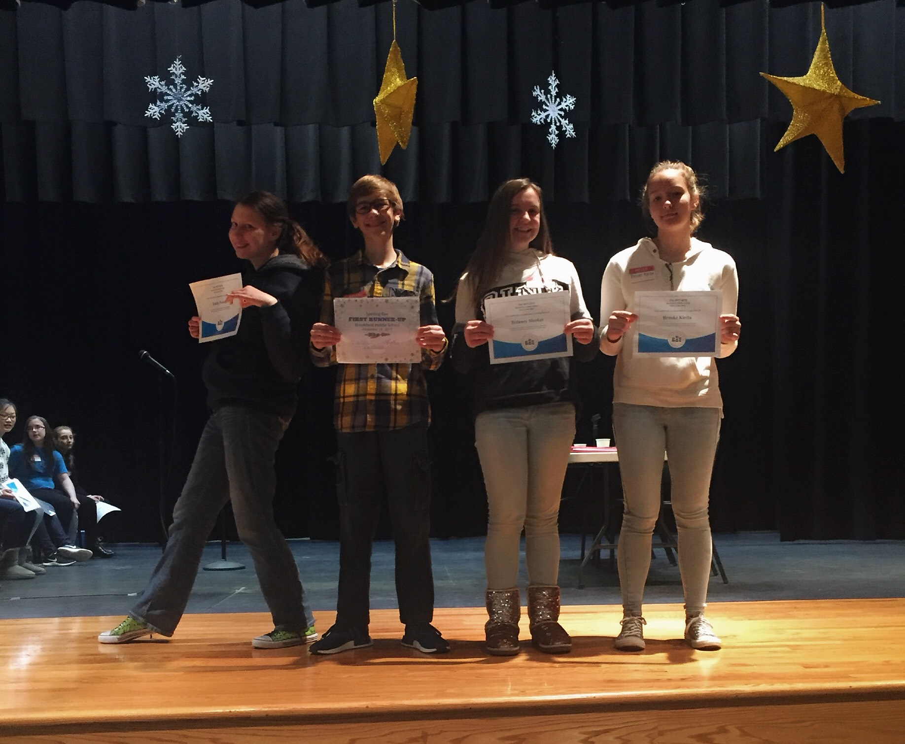 eighth grade spelling bee participants