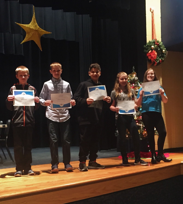 sixth grade spelling bee participants