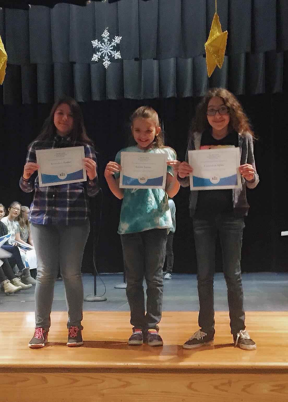 fifth grade spelling bee participants