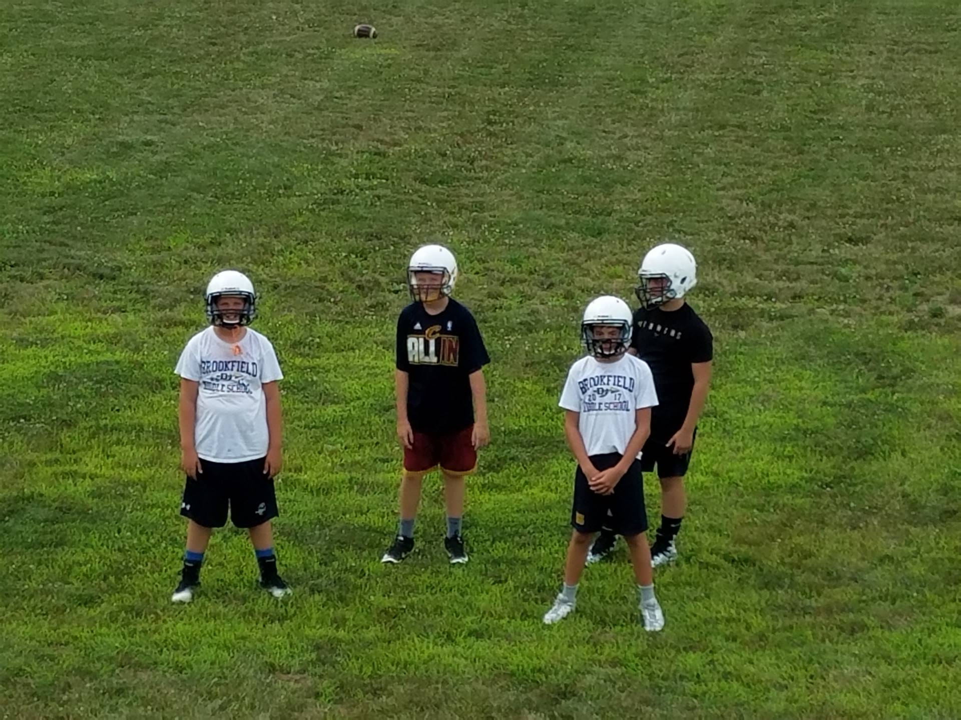MS Football Team preparing for the season