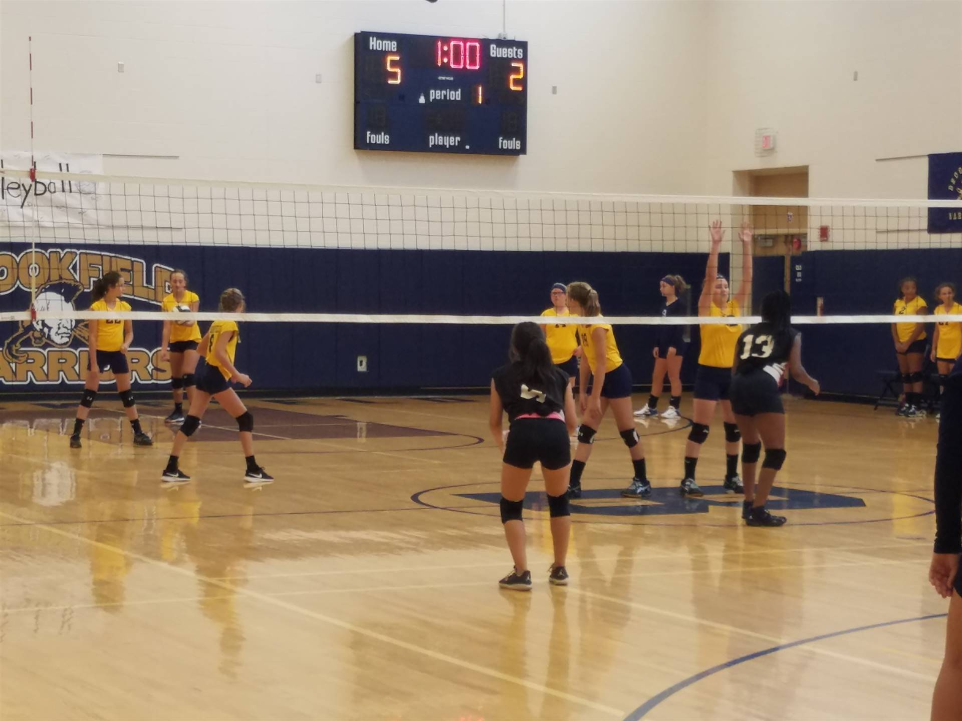 7th Grade Volleyball Team defeated Campbell in 2 sets