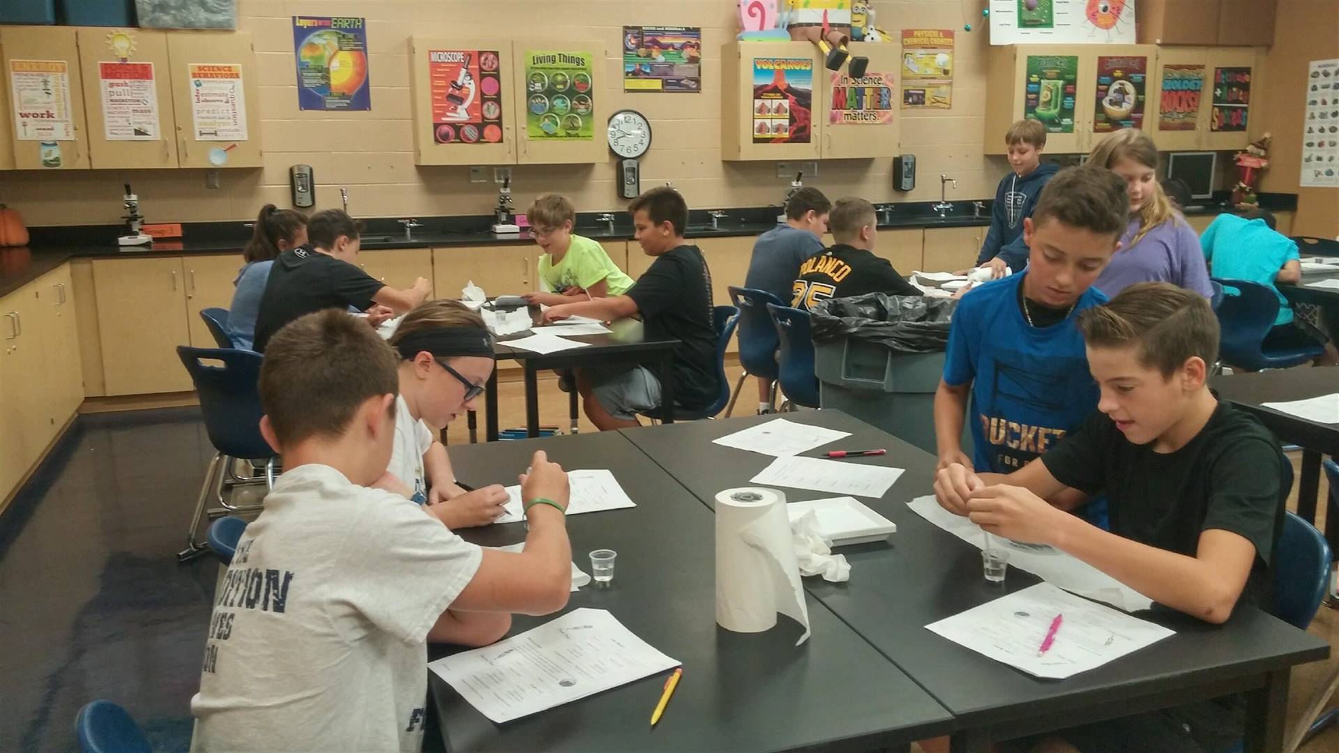 First Lab in 7th Grade Science!!