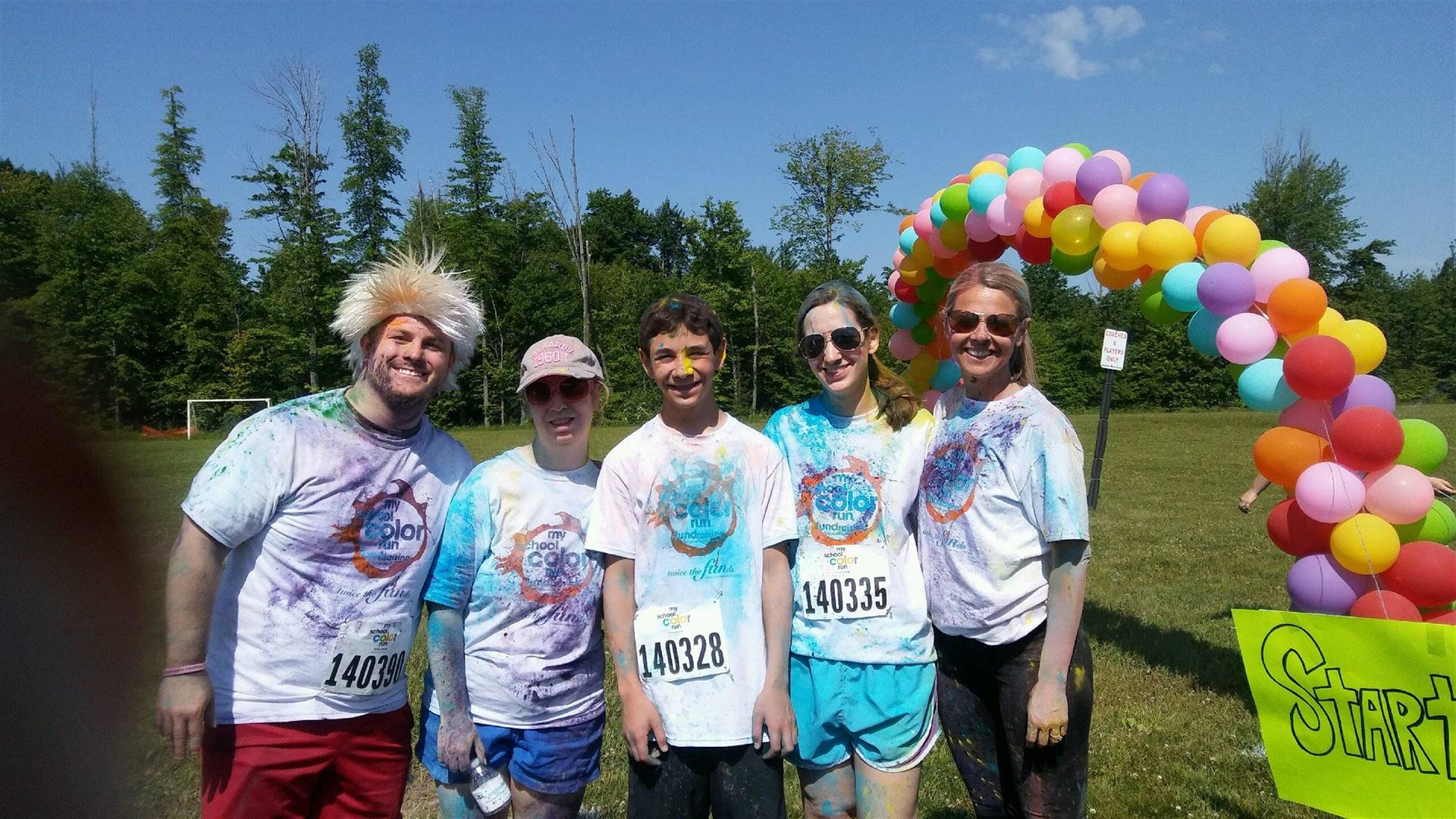 BMS Staff after the BPA Color Run