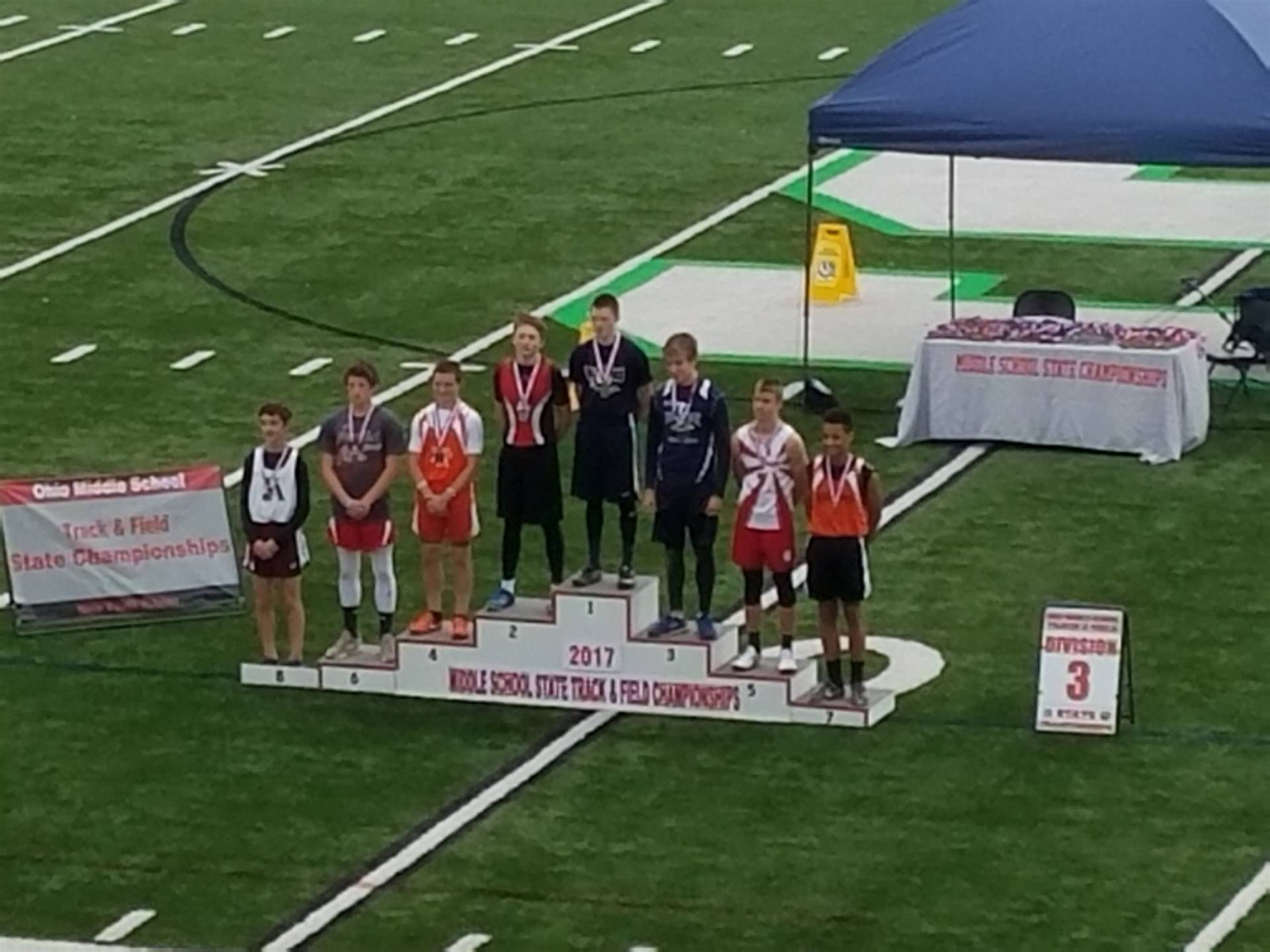 Haden Gibson 2017 Middle School State Champ in the 100m Dash