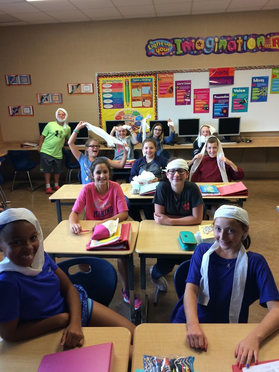 Mrs. Irwin's 7th Grade ELA Class - 1st Day Activities