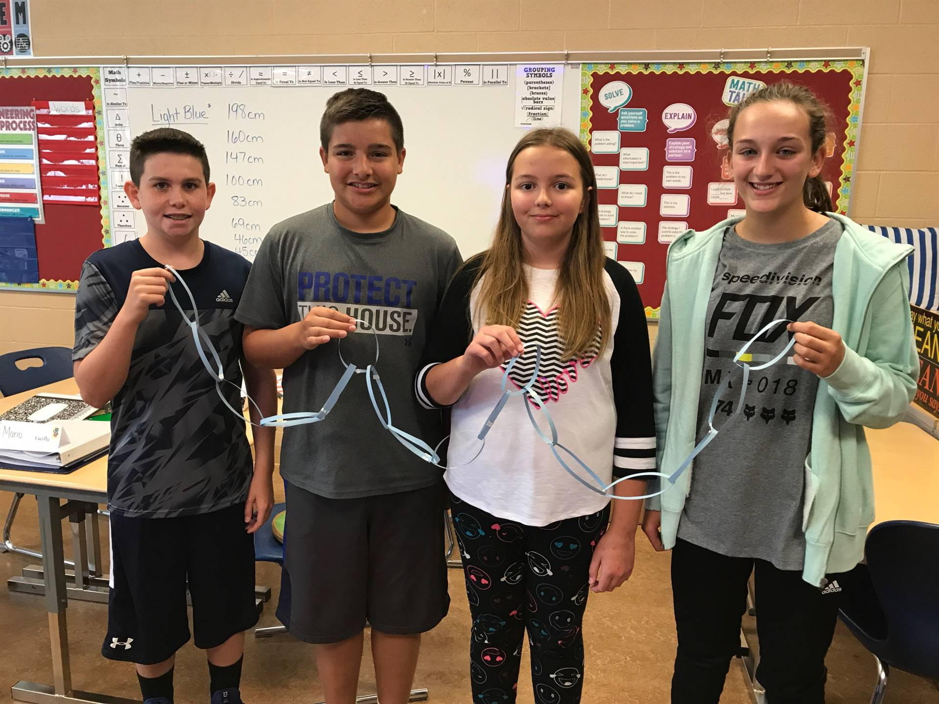Miss Rodgers 7th grade paper chain activity winners