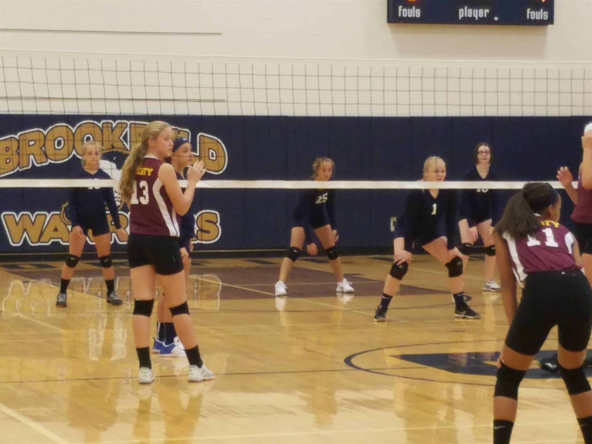 BMS 8th grade volleyball vs. Liberty