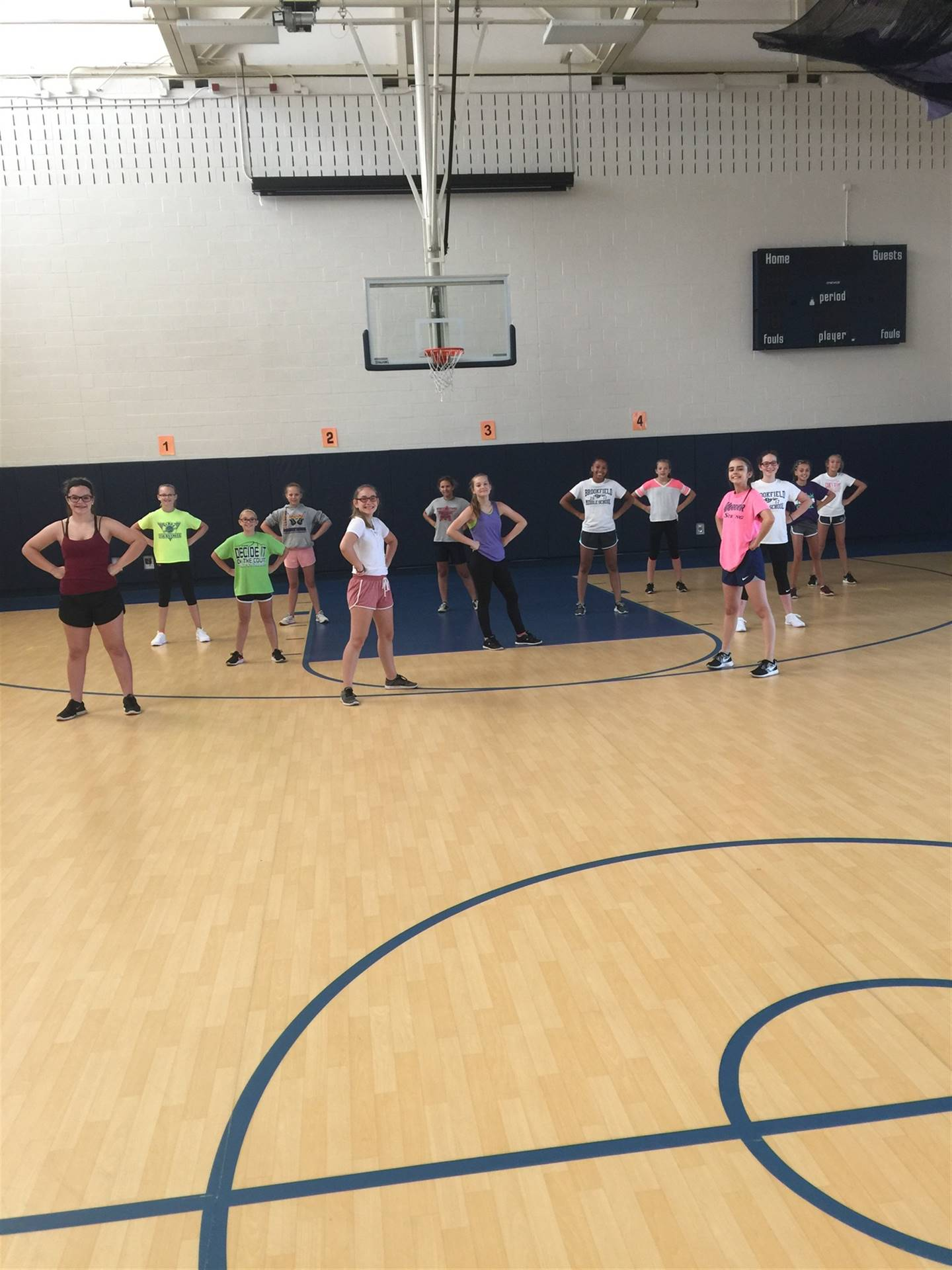 BMS Cheerleaders practicing for our 2017 football season
