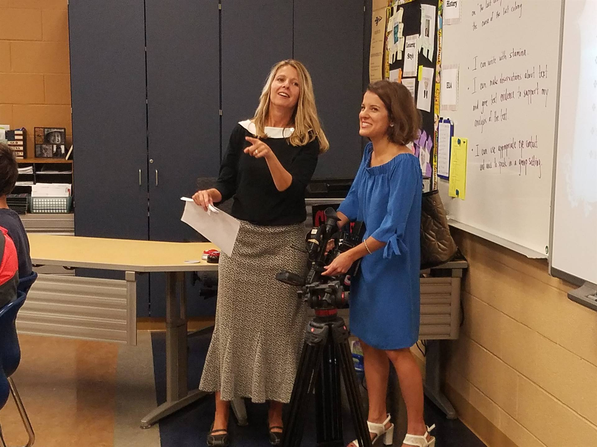 Channel 21's Christa Lamendola was in our 8th Grade ELA classes to hear about Growth Mindset