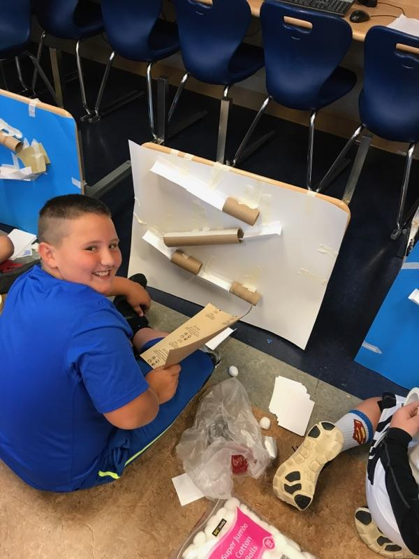 Marble Challenge Experiment in Mr. Hammond's 5th grade Science Class