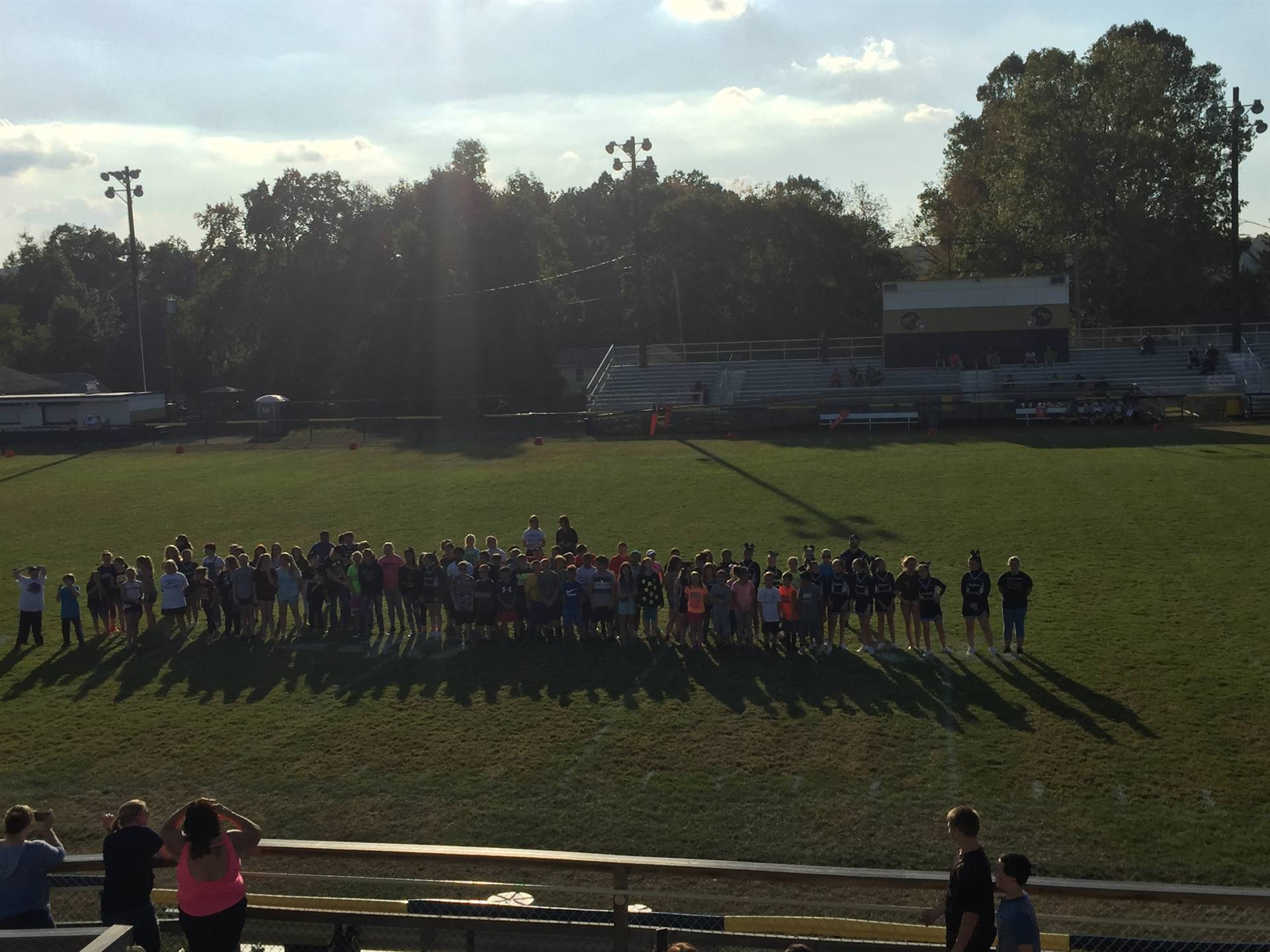 177 Students recognized at our 2nd Annual Academic Recognition Event during halftime of the BMS Foot