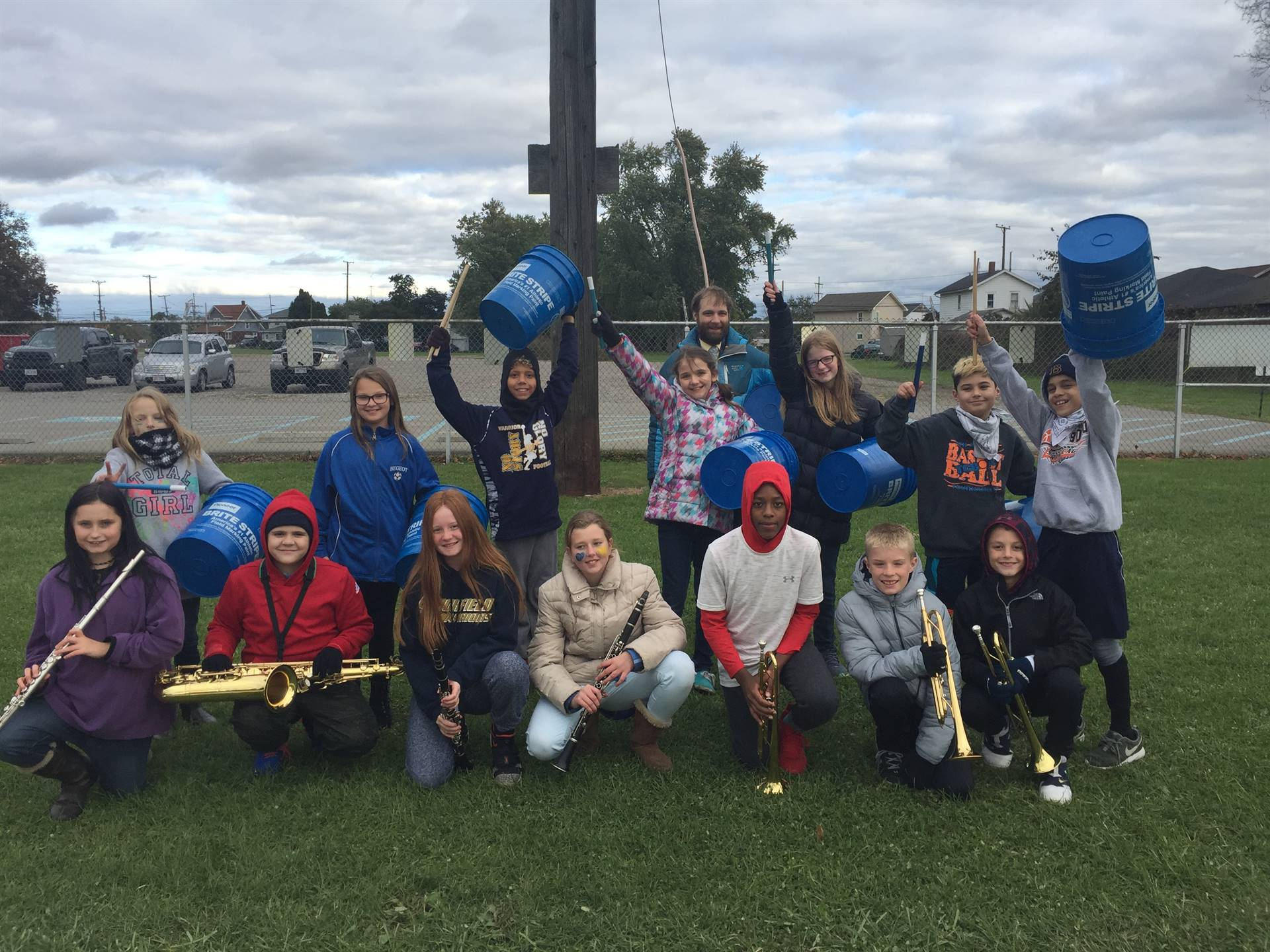 6th Grade Music Class was our Pep Band at the last BMS Football Game