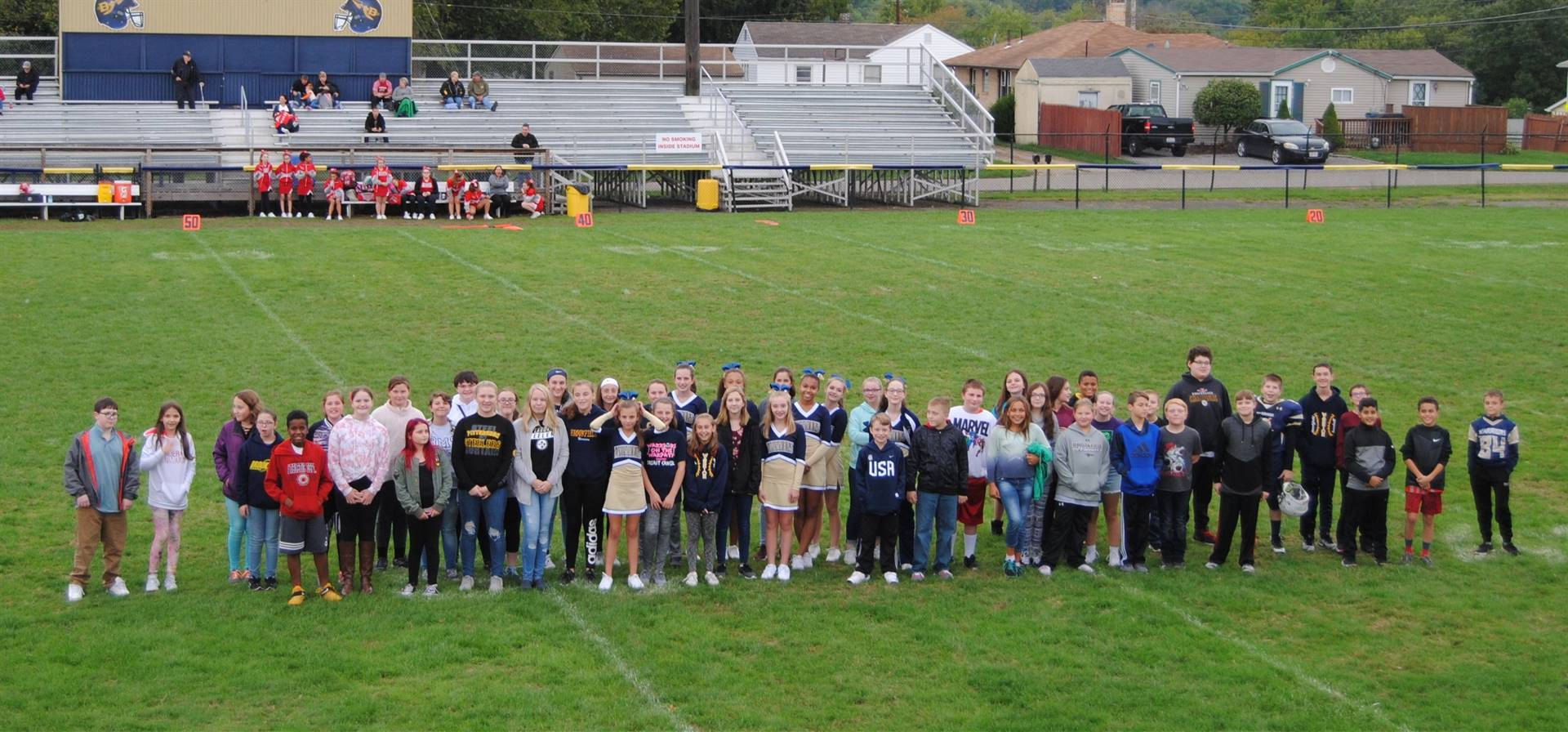 3rd Annual Academic Recognition Event at the BMS Football Game