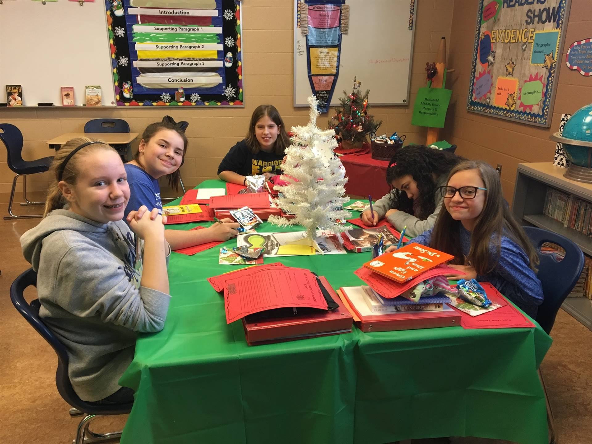 "6th Grade ELA ""Book Tasting"" - Sharing their favorite book."