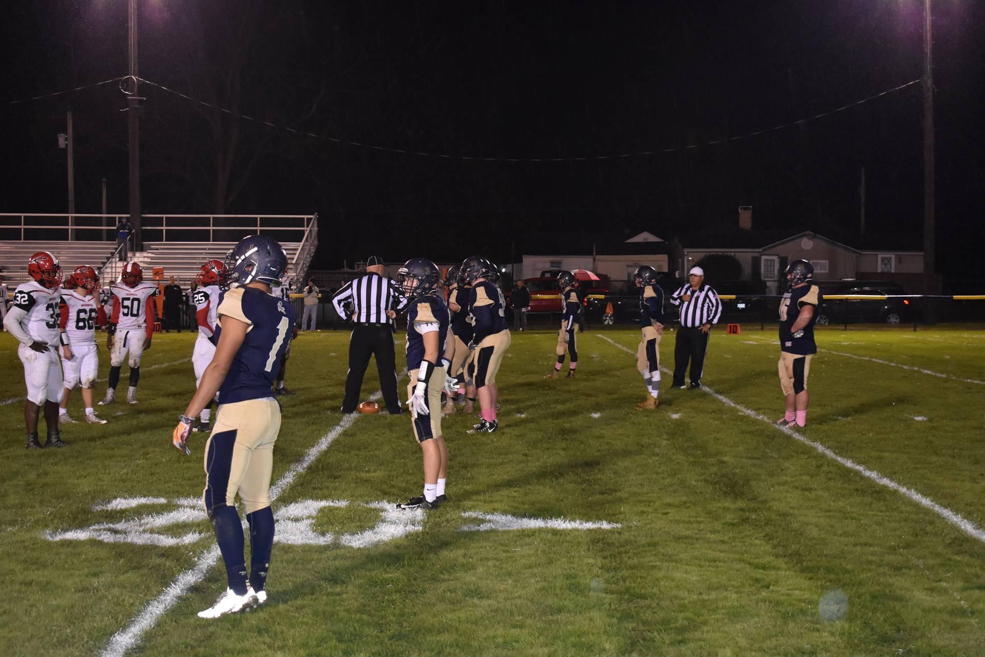 Brookfield Varisty football team on offense