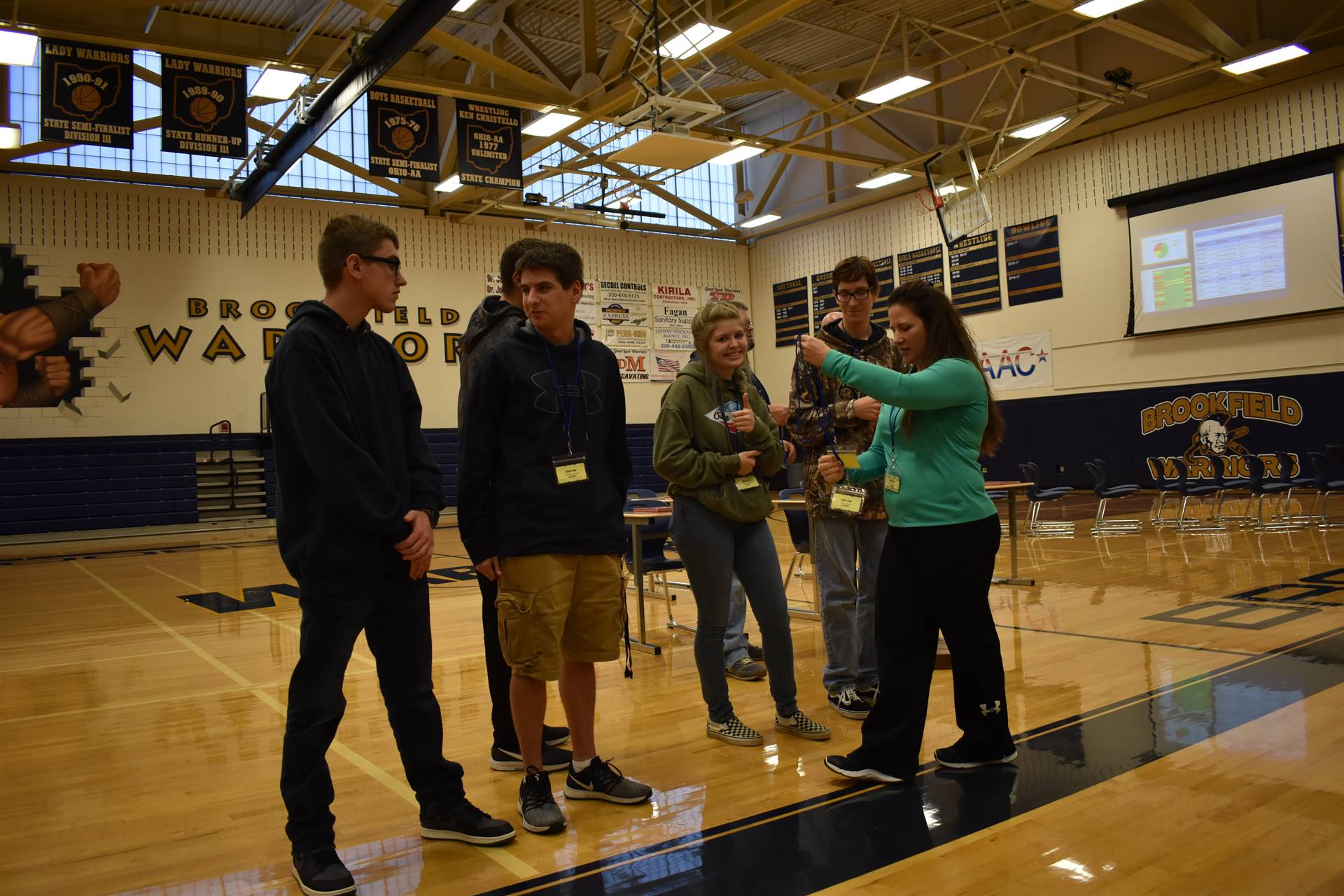 Brookfield High School launched SPEAR during an assembly