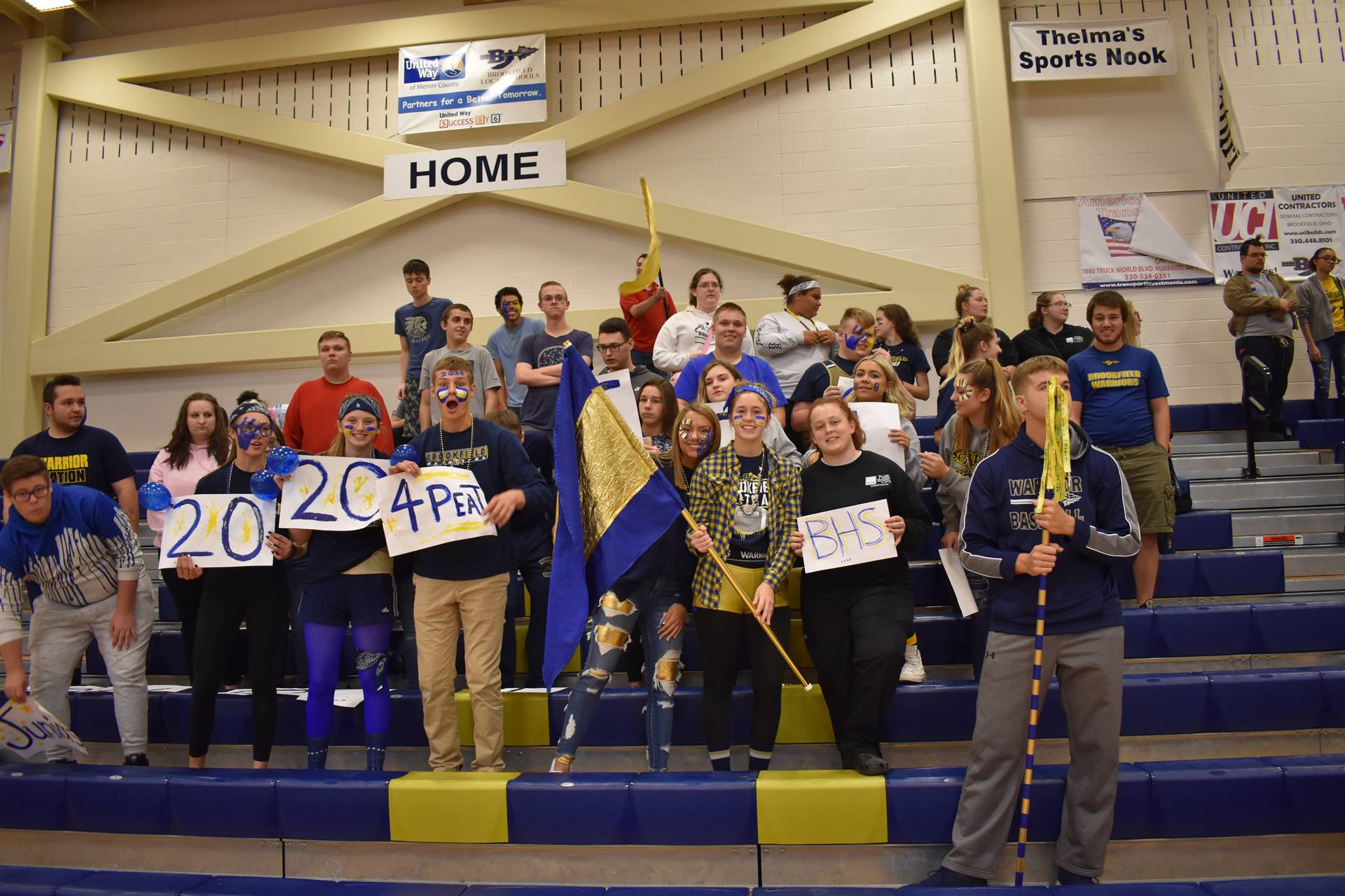Students cheering during Brookfield High School Pep Assembly