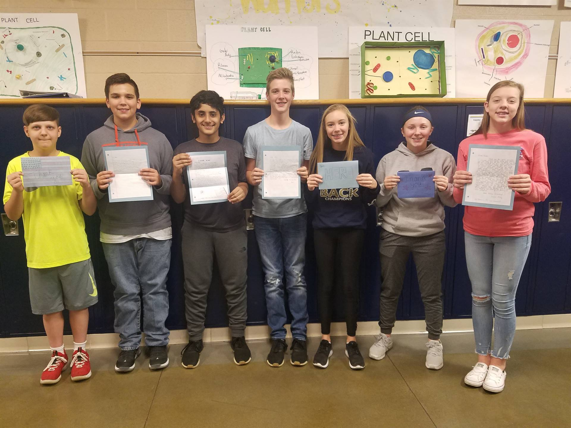 BMS Students wrote letters to Veterans and Deployed Service Members as part of Operation Gratitude
