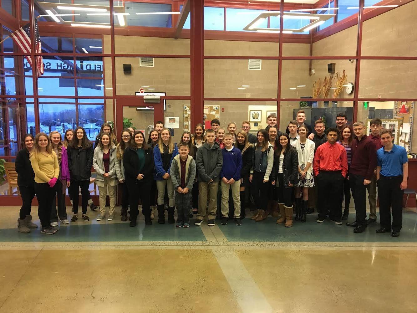 Brookfield High School students attended the Youth Leadership Summit at YSU.