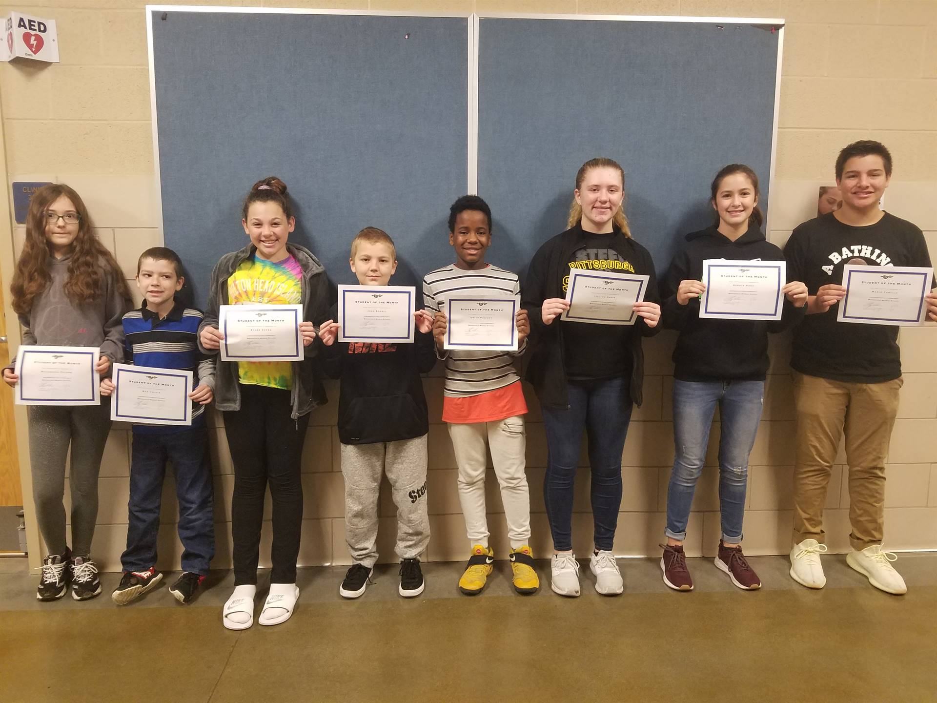 BMS October Students of the Month.  Great Job!
