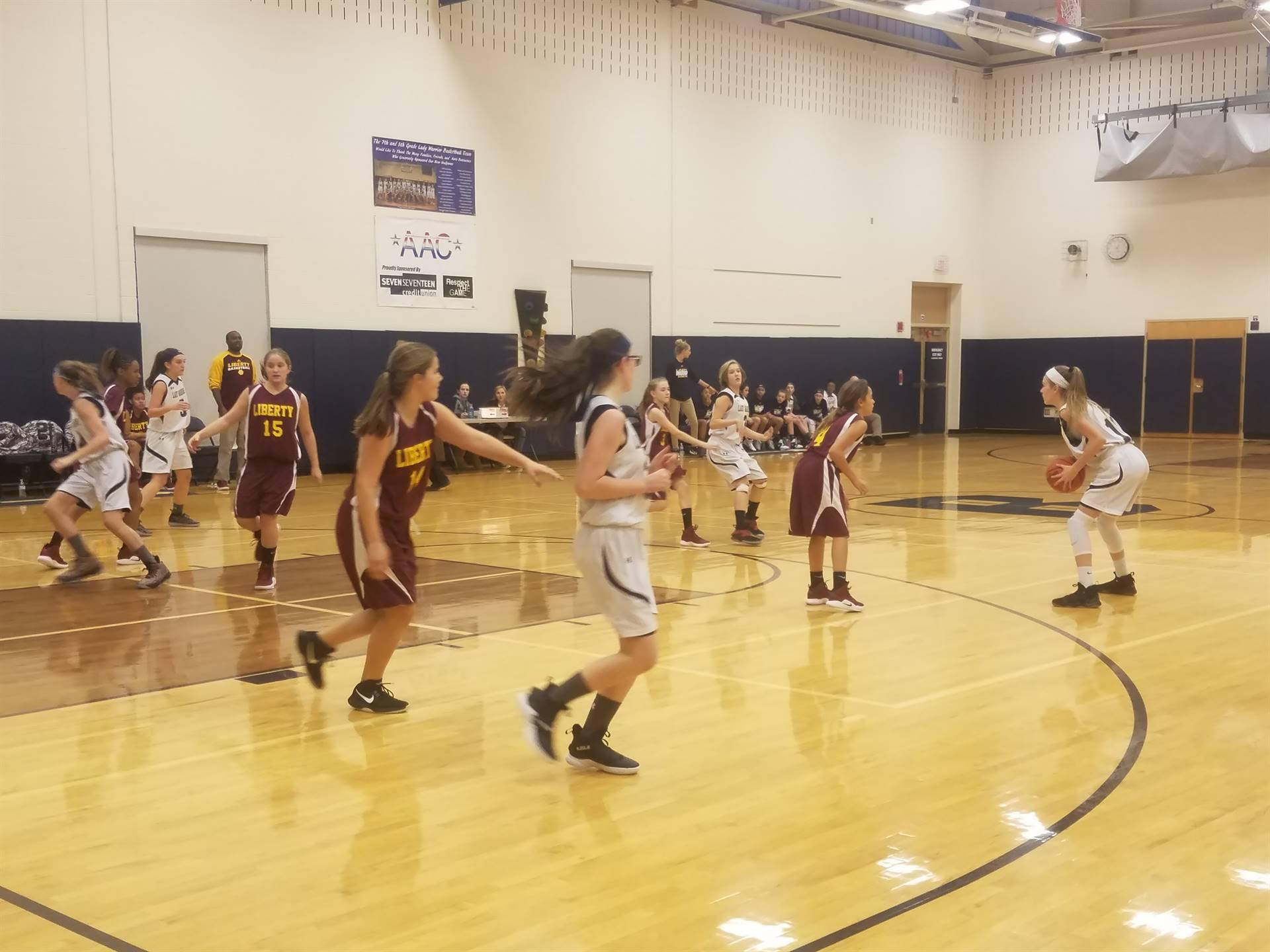 7th Grade Girls Basketball vs Liberty