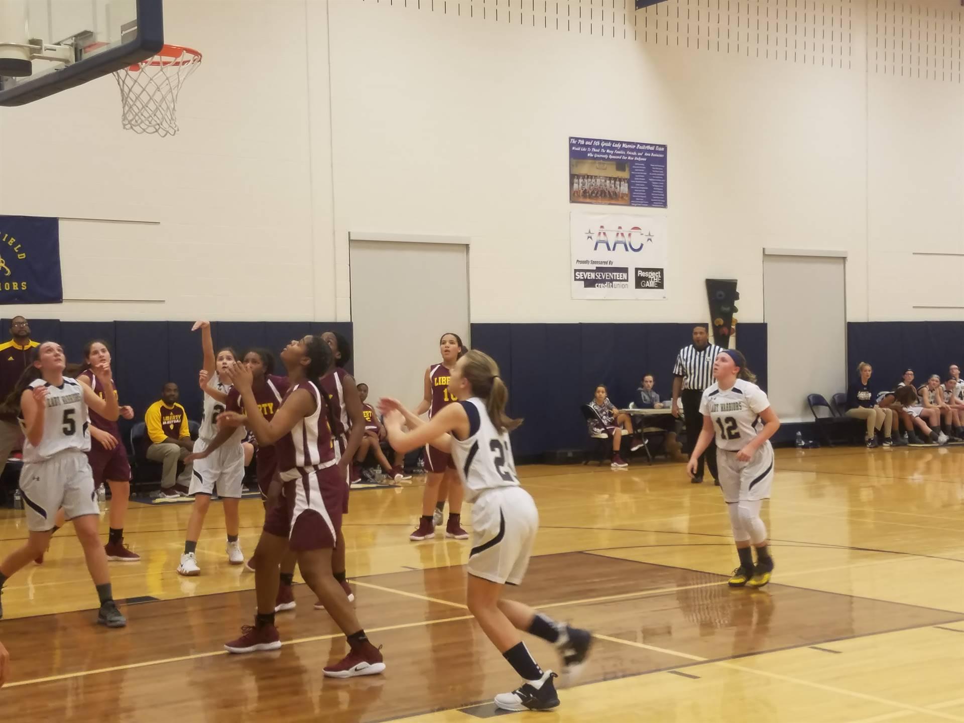 8th Grade Girls Basketball vs Liberty