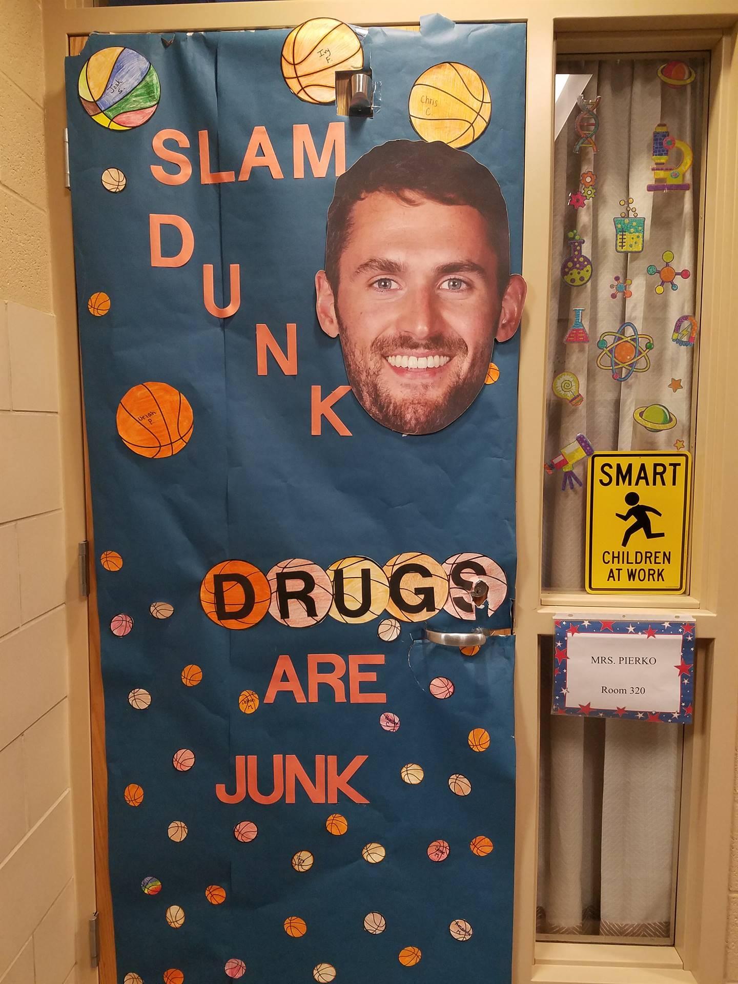 BMS SADD Anti-Drug Door Decorations.