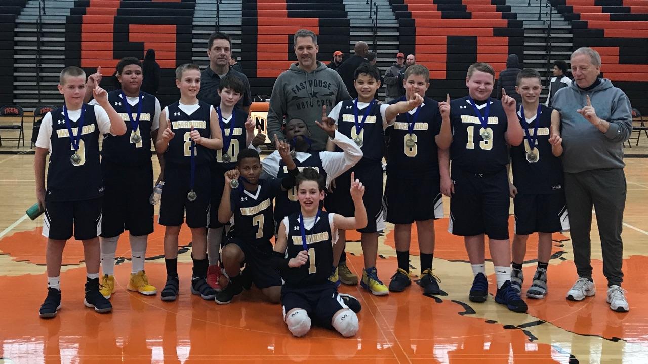6th Grade Boys Basketball - Won the Sharon Basketball Tournament