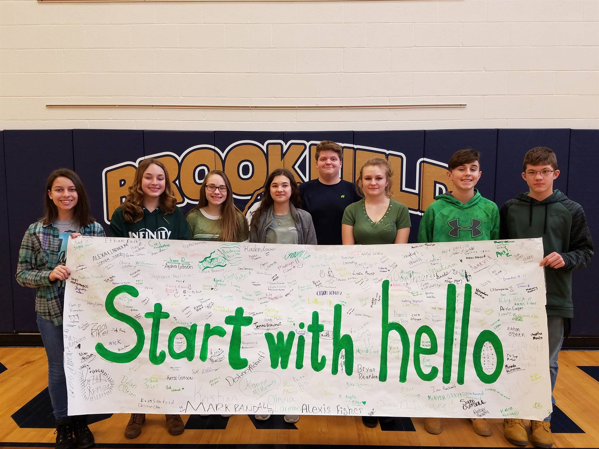 """2018 """"Start With Hello"""" Pledge Banner"""