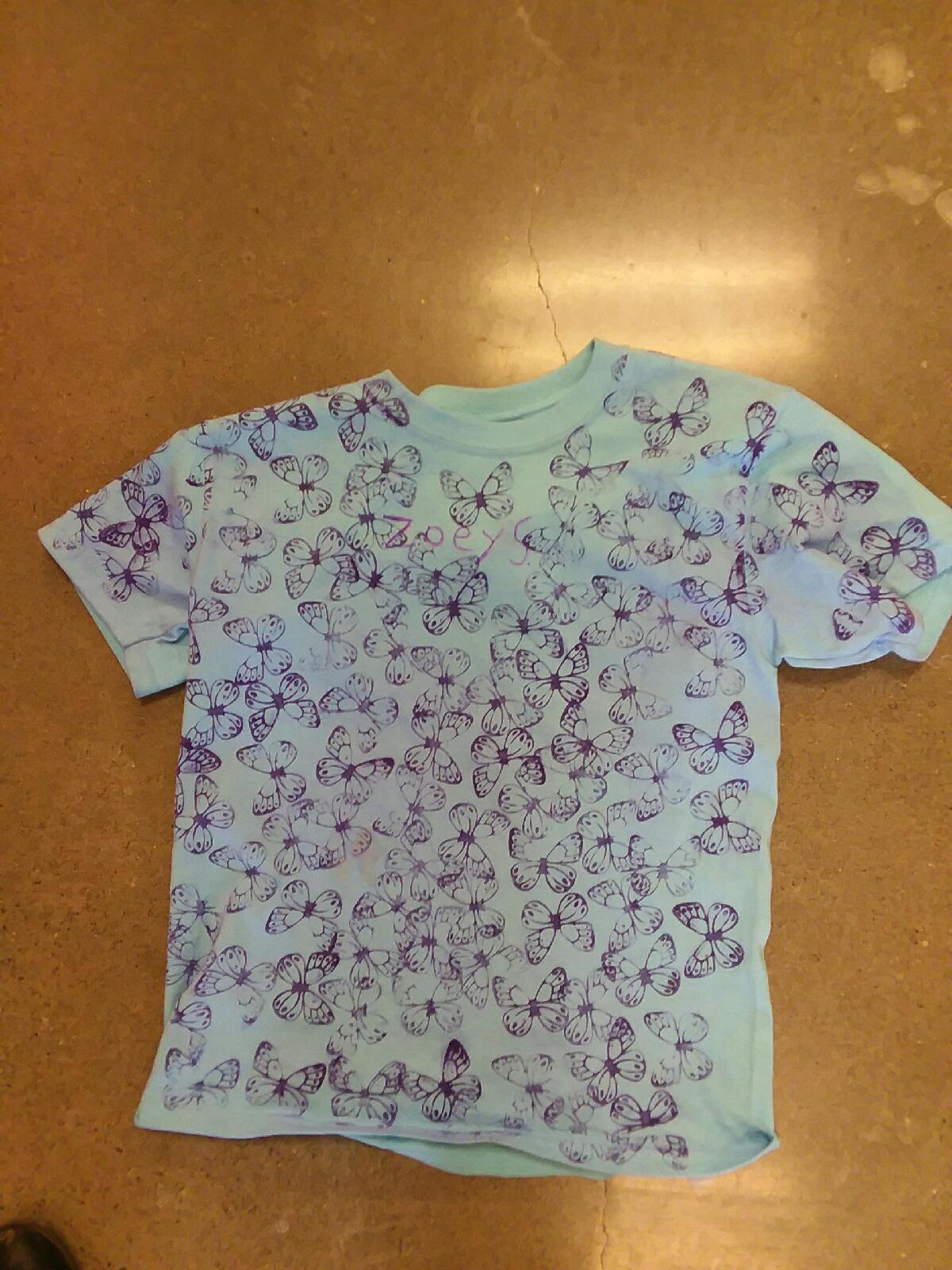 shirt with 100 butterflies