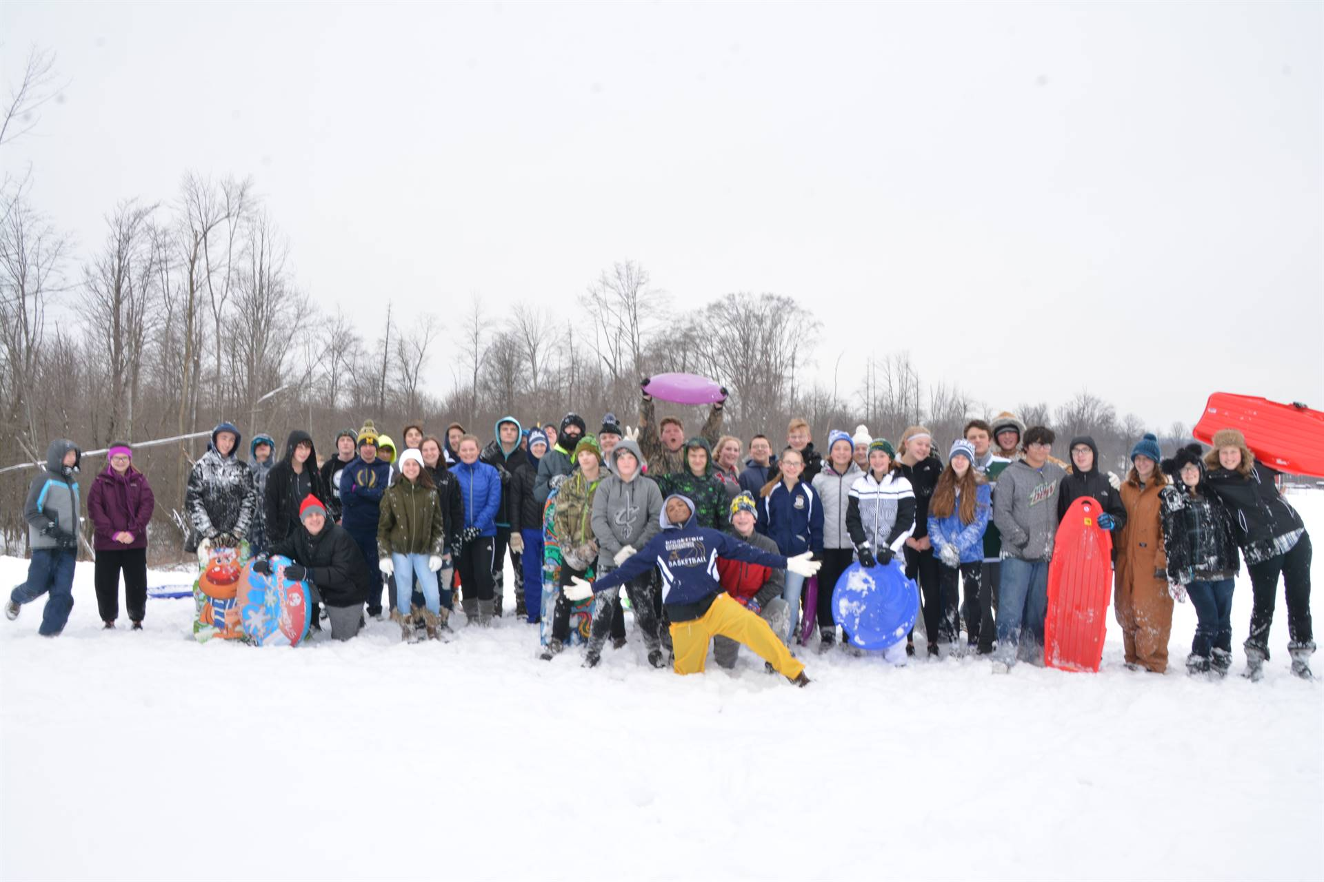 Annual 8th Grade Sled Riding Event