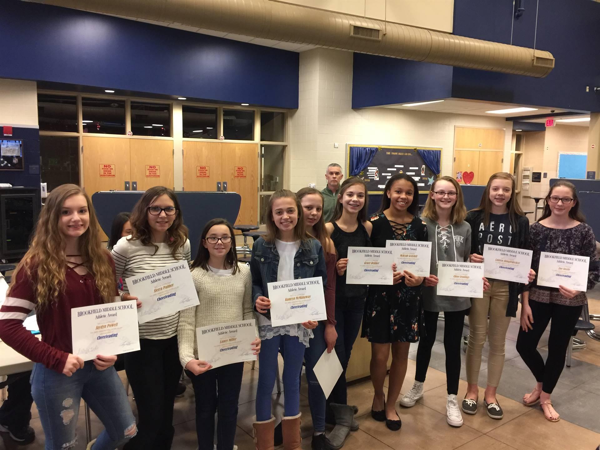 2017-2018 7th Grade Cheerleaders