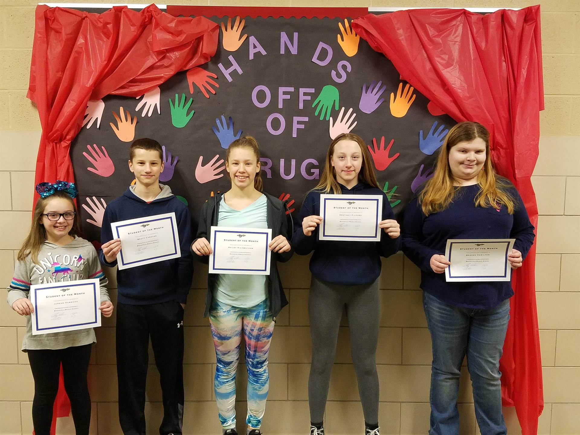 BMS February Students of the Month