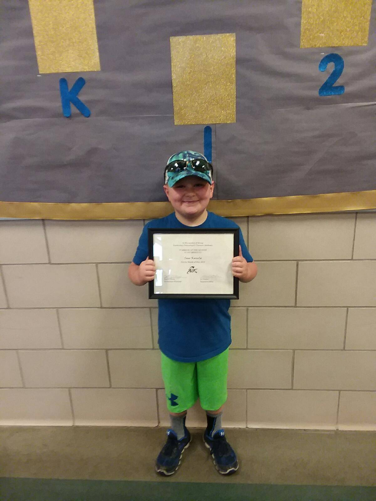 first grade warrior of the month sam kasula