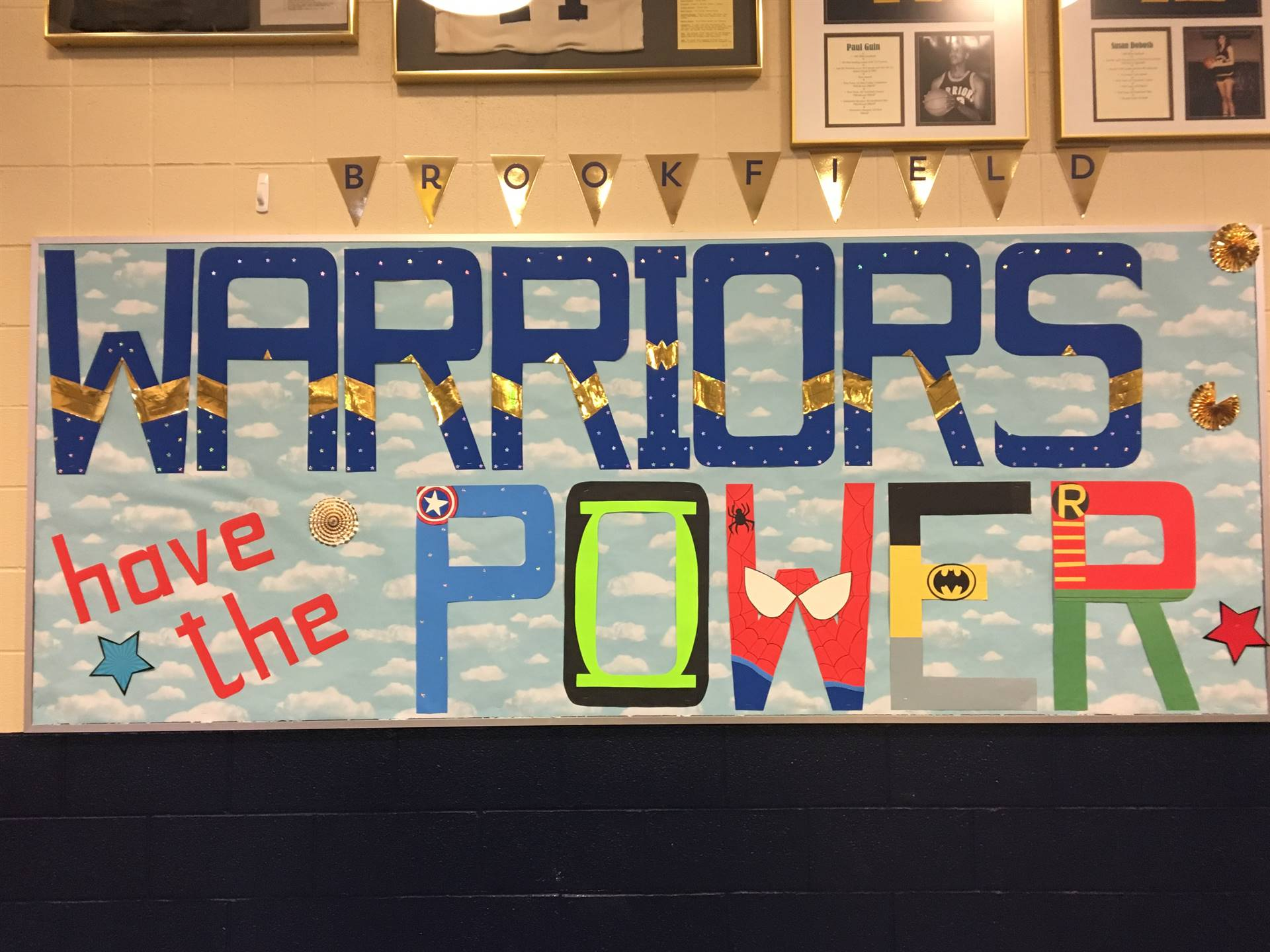 Warriors have the power painted in the lunchroom