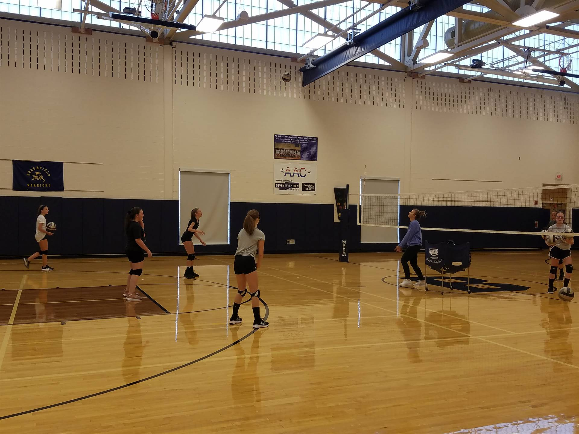 2018 BMS Volleyball Hard at Work.