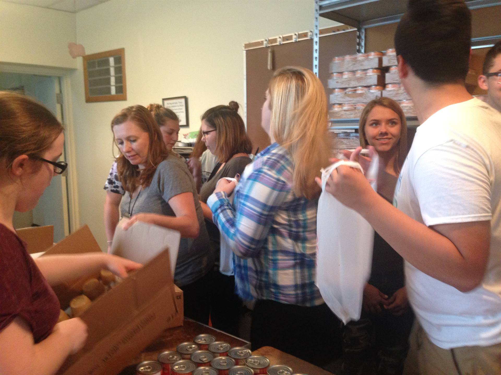 Brookfield High School Interact Club members volunteered at Brookfield Methodist Church to help with