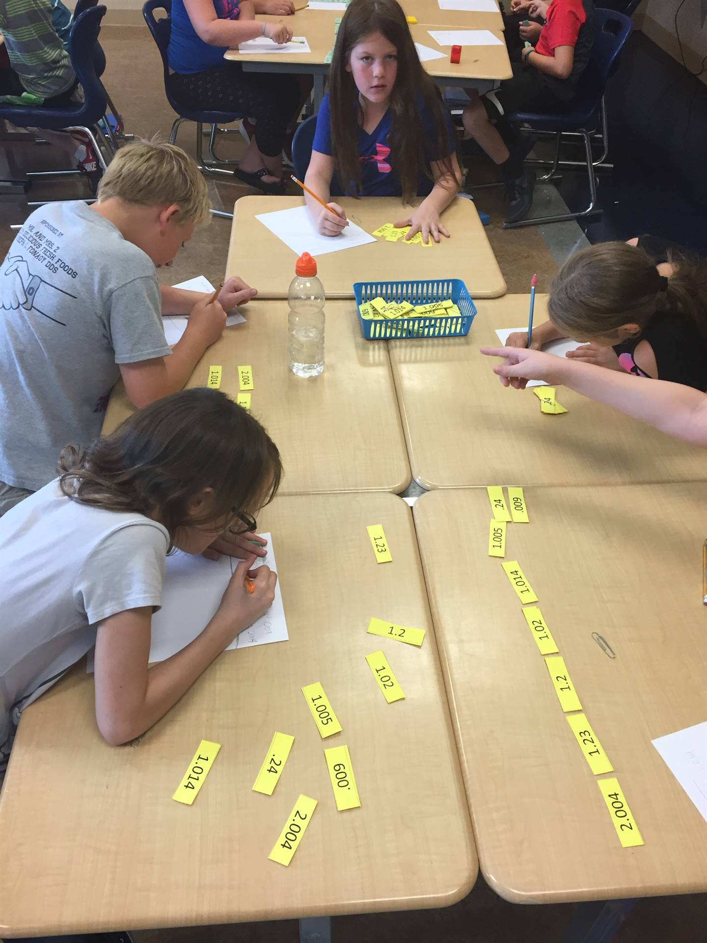 5th Grade Students in Mr. Montesano's Math Class working with Decimals.