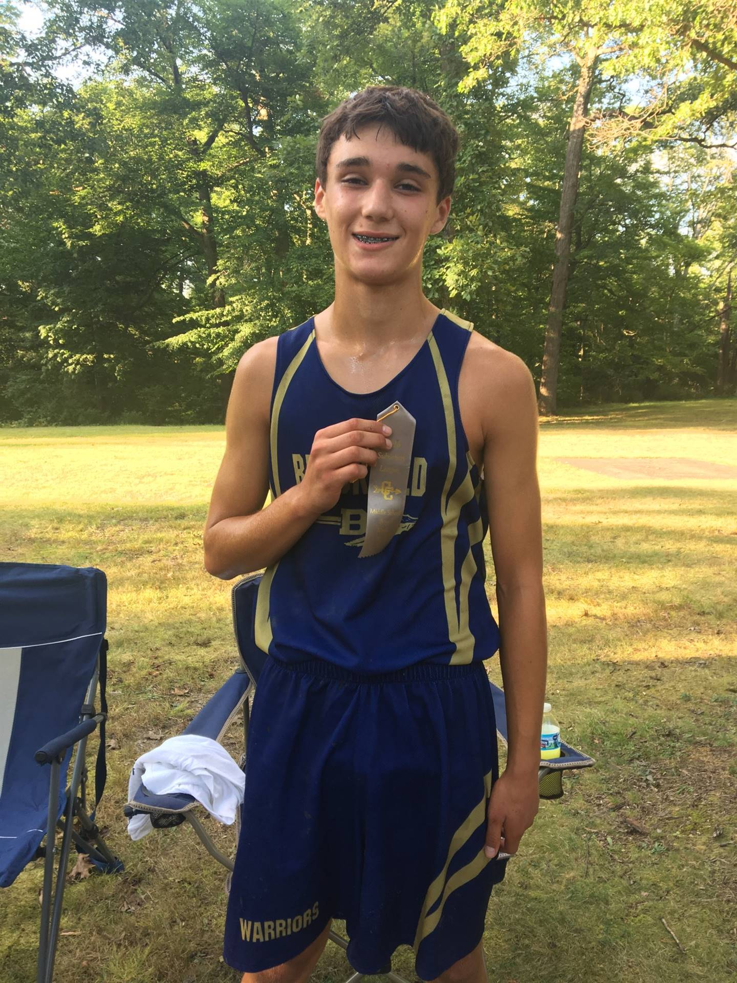 Luca Franz finished in the top 10 at the McDonald CC Meet
